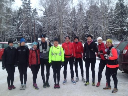 Susanne, Carina, Ellen, Johnny, Mia, Janne, Kalle, Annelie, Annie och jag!