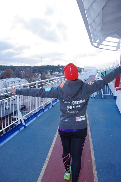 Tjejmarathon goes to sea!